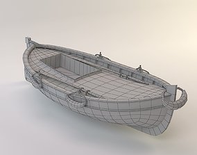 Midpoly Toon Fishing Boat 3D asset