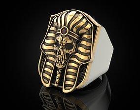 3D print model Pharaoh Skull Ring