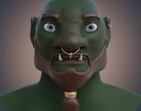 Ogre head 3D model
