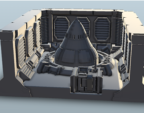 3D print model Missile Launch Pad 28mm Table Top Terrain