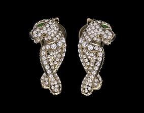 earrings famale 3D print model leopard