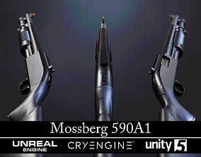 3D model Modular Mossberg 590A1 - Textured - Game Ready