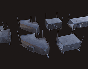 low-poly Air Conditioning Ducting Low-poly 3D model