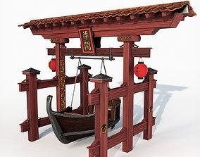 Japan swing boat 3D