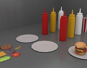 Fast Food Pack 01 Burger 3D model