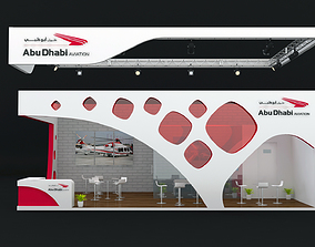 Exhibition Stand Booth 60 sqm 3D