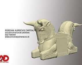 persian aurochs capital 3D model