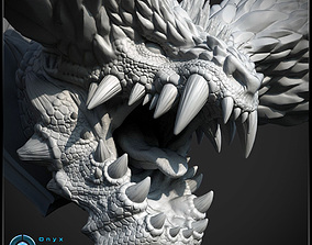 3D Printable Monster hunter head - Nergigante