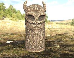 3D asset Tyr Statue