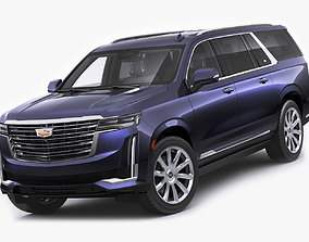 3D Escalade 2021 ESV large SUV