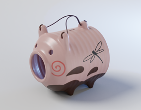 3D asset Pig Incense Burner