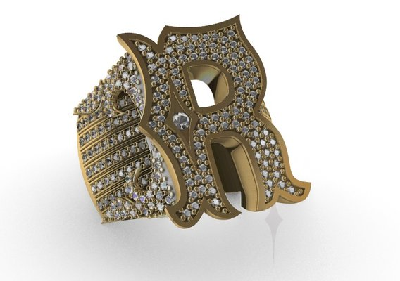 Ring men ice style diamond