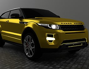 Range Rover Evoque 3D model vehicle