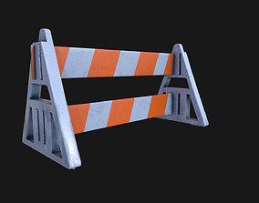 Barricade PBR 3D asset