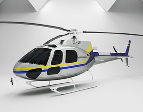 Helicopter AS-350 v2022 Super Low Poly 3D model