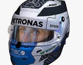 3D asset Bottas helmet 2018