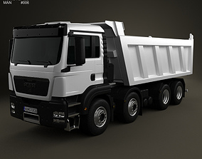 MAN TGS Tipper Truck 2012 3D model