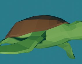 3D model animated realtime Turtle