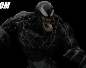rigged Venom 2018 Rigged Model Updated