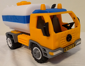 Tank truck toy - fully 3D printable - assembly