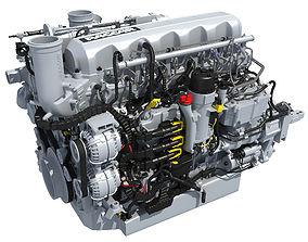 3D model Powertrain Truck Diesel Engine