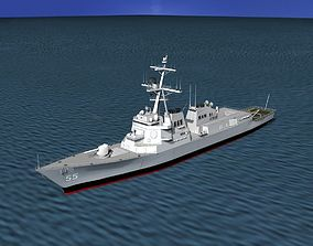 Burke Class Destroyer DDG 55 USS Stout 3D model
