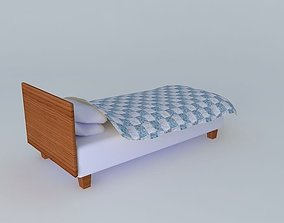 Single simple bed 3D
