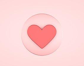 Love Buttons 3D asset realtime