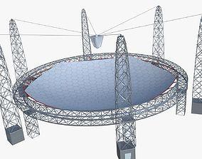 telescope 3D model Huge satellite dish