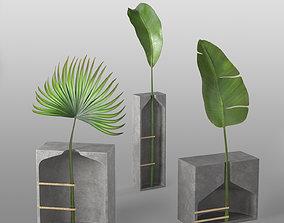 3D Modern concrete Pots