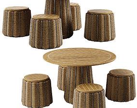 Mcguire Satsuma dining set 3D