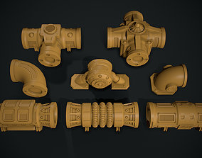 Warhammer 40K Modular pipework 3D print model