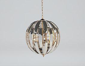 Futuristic sparkling lamp 3D