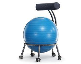 Yoga Ball Office Chair 3D