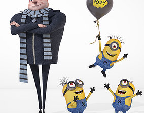 3D Despicable me cartoon characters