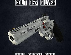 Colt 357 Silver Low poly 3D asset