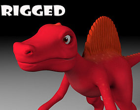 3D asset Cartoon spinosaurus