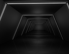 3D model VR / AR ready Sci Fi Corridor