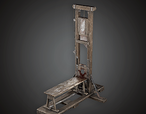 3D model Guillotine - MVL - PBR Game Ready
