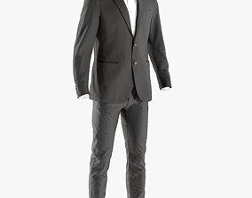 3D model Mens Business Suit with Shirt 6