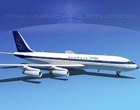 3D model Boeing 707 Olympic