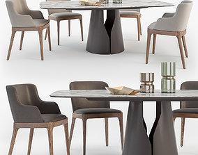 3D model Cattelan Italia Giano table Magda chair set
