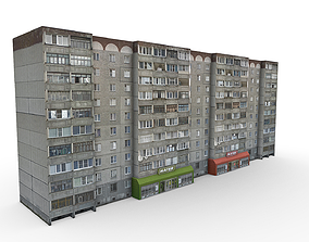 10 Storey Residential Building 3D model game-ready
