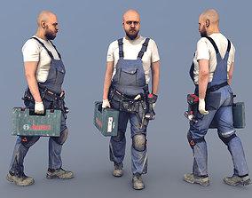 Photorealistic Construction Worker 3D model 1