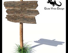 3D model Old wood board