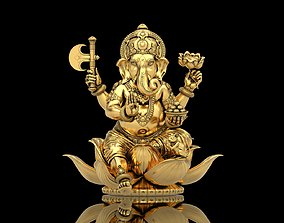 elephant Lord Ganesha Sitting Statue 3D printable model