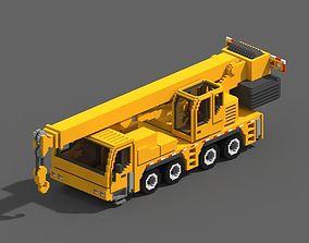 Voxel Crane Truck 3D model