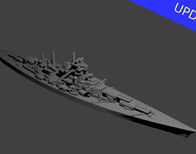 German Bismarck Class 3D printable model