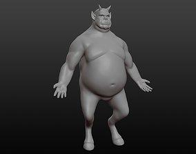 Daemon base mesh horn 3D