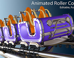 3d Animated Roller Coaster Train rollercoaster animated